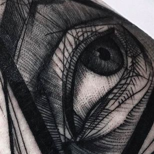 Eye Chaotic Blackwork Tattoo by Frank Carrilho @FrankCarrilho #FrankCarrilhoTattoo #FrankCarrilho #Chaotic #Black #Blackwork #Eye