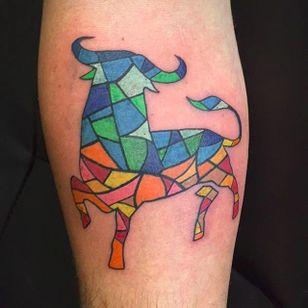 Cubist bull by Joe (via IG -- ohnojoe) #joe #bull #picasso