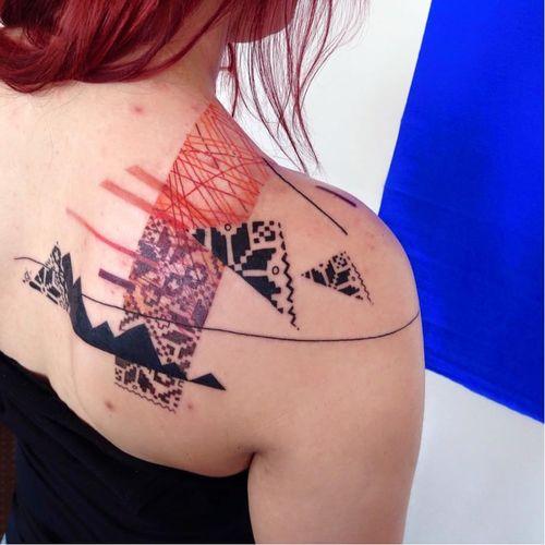 Ornamental tattoo by Adine Tetovacky #AdineTetovacky #ornamental #graphic #pattern