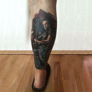 Color realism Bryan Adams portrait on fan, Manuel Schneider. #realism #colorrealism #BryanAdams