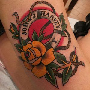 Lifebuoy Tattoo by Becca Genne-Bacon #lifebuoy #nautical #maritime #traditional #BeccaGenneBacon