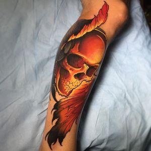 Skull Tattoo by Jay Marceau #skull #skulltattoo #neotraditional #neotraditionaltattoo #neotraditionaltattoos #neotraditionalartist #bestattoos #boldtattoos #JayMarceau