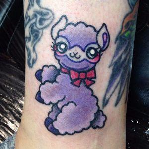 Alpaca tattoo by Rachel Baldwin. #RachelBaldwin #girly #cute #kawaii #alpaca