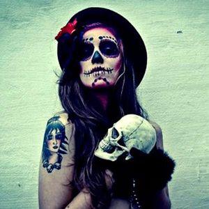 Image via Skullspiration #inspiration #ideas #skull #girl #sugarskull