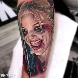 Harley. (via IG - boloarttattoo) #realism #portrait #ladyhead #bolo