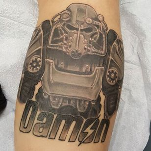 Brotherhood of Steel Tattoo by @bigstevetattoos #BrotherhoodOfSteel #BrotherhoodOfSteelTattoo #FalloutTattoos #FalloutTattoo #Fallout4 #Gaming #BigSteveTattoos