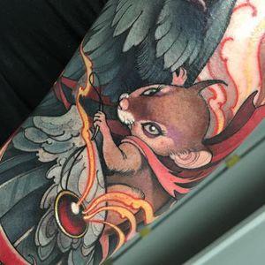 Brave Little Mouse by Teresa Sharpe (via IG-teresasharpeart) #neotraditional #teresasharpe #bestink #color