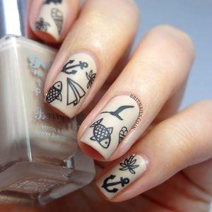 Cute little Nail Tattoo symbols #symbols #NailTattoo #NailArt #NailTattoos #TattooFashion