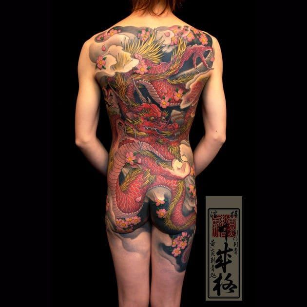 Por Shige #Shige #dragao #dragaotattoo #dragontattoo #mitologia #mythology #flor #flower #oriental #colorida #fullcolor #dragon