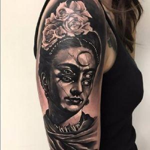 Mulher capirota! #AnrijsStraume #dark #trash #realistic #fromhell #blackwork #TattoodoBR