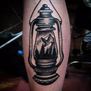 Lantern Tattoo by Jaffa Wane #lantern #lanterntattoo #blackwork #blackworktattoo #blackworkartist #darkart #JaffaWane