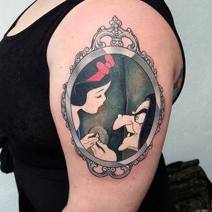 Snow White tattoo by Edgar Monjo. #villain #snowwhite #disney #disneyprincess #princess #fairytale