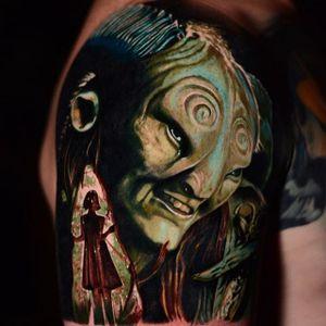 Pan's Labyrinth tattoo by Ben Ochoa. #BenOchoa #colorrealism #popculture #panslabyrinth #movie #film