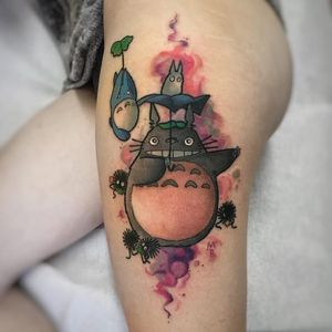 Totoro tattoo by Michela Bottin. #MichelaBottin #studioghibli #ghibli #totoro #anime