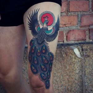 Peacock by Martina Ekenberg (via IG-electricmartina) #colorful #bright #bold #traditional #animals #MartinaEkenberg