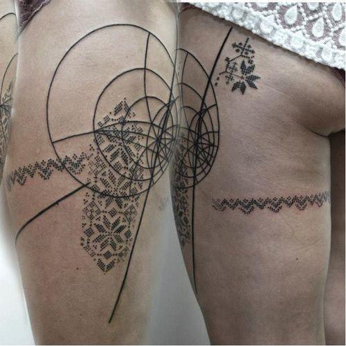 Patterned tattoo by Adine Tetovacky #AdineTetovacky #ornamental #graphic #pattern