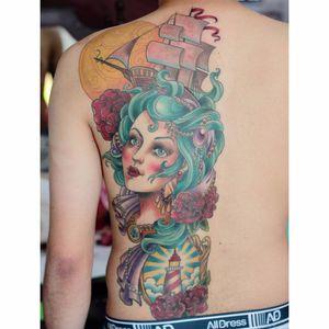 Tattoo que ficou em segundo lugar na categoria neo tradicional na Tattoo Week 2016 por Deh Soares! #DehSoares #TatuadorasBrasileiras #neotradicional #neotrad #neotraditional #newtraditional