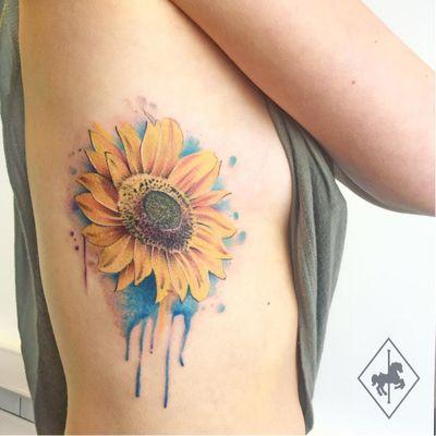 Girassol #JasonAdelinia #gringo #watercolor #aquarela #flor #flower #botanical #botanica #folha #leaf #girassol #sunflower