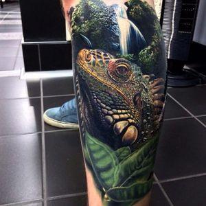 Color realism lizard by Tater Tatts. #realism #TaterTatts #colorrealism #lizard