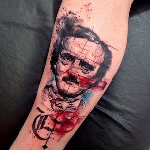 Poe. #RobertoFelizatti #aquarela #watercolor #tatuadoresdobrasil #sketch #colorida #colorful #poe #EdgarAllanPoe #nerd #geek #livros #books #literatura #literature