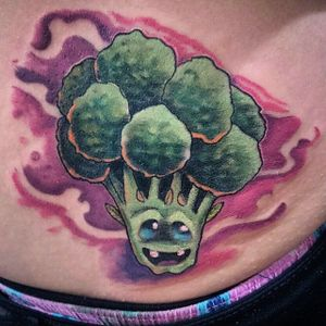 Baby Broccoli, by Alejandro Pachon #AlejandroPachon #Broccolitattoo