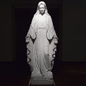 """Marble """"styrofoam"""" Mary by Fabio Viale #FabioViale #fineartist #sculpture #marble #religious #mary #ARTSHARE"""