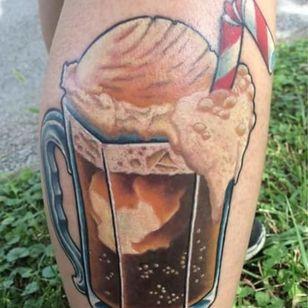 Root beer float by Joshua Drake #joshuadrake #rootbeer #rootbeertattoo #rootbeerfloat
