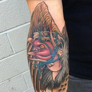 Vulture tattoo by Craig Gardyan #vulture #neotraditional #CraigGardyan
