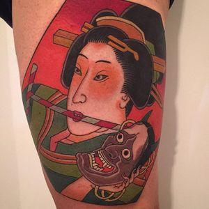 Japanese style tattoo by @pino_cafaro #kite #JapaneseKite #Japanese #PinoCafaro #japanesestyle #kitetattoo