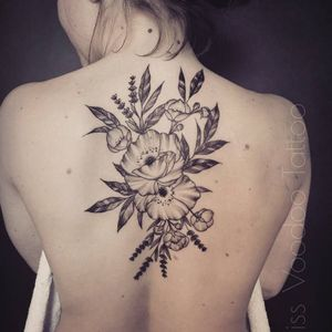 Flowery tattoo by Miss Voodoo #MissVoodoo #ornamental #lace #mehndi #chandelier #feather #flower
