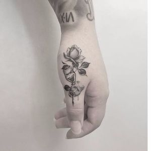 Laugh now cry later tattoo by Kane Navasard #KaneNavasard #blackandgrey #rose #masks #laughnowcrylater