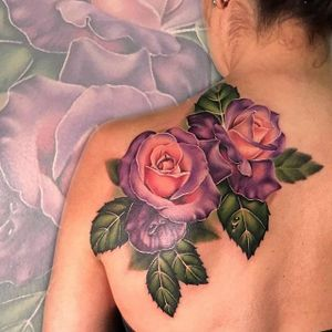 Roses by Liz Venom #LizVenom #color #rose #flower #floral #tattoooftheday