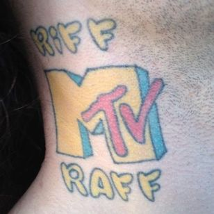 Riff Raff's MTV tattoo. MTV Is Dead, Long Live MTV #MTV #MusicTelevision