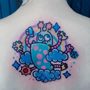 Cartoon tattoo by Pikkapimingchen. #Pikkapimingchen #cartoon #cute #graphic #colorful