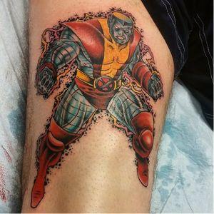 Colossus Superhero Tattoo by James King #Colossus #XMen #MarvelTattoos #SuperheroTattoos #JamesKing