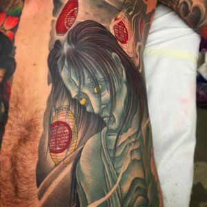 The rendering of the hair is just amazing! #callecorson #japanesestyle #japanesetattoo