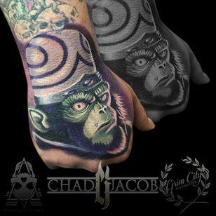 Mojo Jojo Tattoo by Chad Jacob #MojoJojo #Portrait #ColorPortrait #PortraitTattoos #ColorRealism #ChadJacob #mojojojo