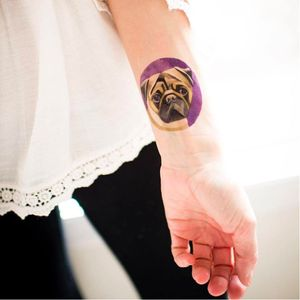 Sasha also has a line of temporary tattoos #SashaUnisex #pug #dog #temporarytattoos (Photo: Facebook page)