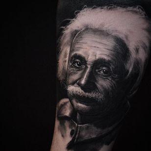 Albert Einstein by Ben Thomas. #realism #blackandgrey #blackandgreyrealism #portrait #BenThomas #AlbertEinstein