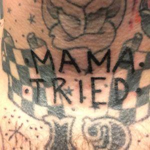 Blast over tattoo by Blake Teardrop. #blastover #writing