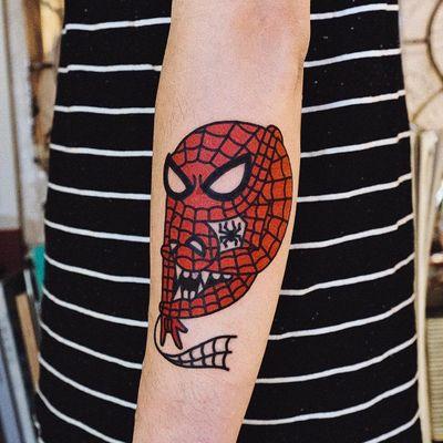 #WoohyunHeo #gringo #traditional #oldschool #colorido #colorful #funny #fun #divertido #nerd #geek #spiderman #homemaranha #skull #caveira #cranio #doubleface #marvel #superhero #superheroi #animação #desenho #hq #comics