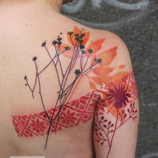 Graphic tattoo by Adine Tetovacky #AdineTetovacky #ornamental #graphic #pattern