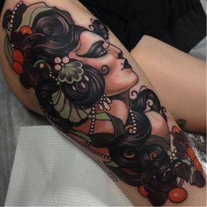 Masterpiece by Emily Rose #EmilyRose #neotraditional #masterpiece #woman #neotraditionalwoman #emilyrosemurray
