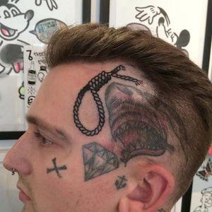 Noose face tattoo #noose #hangman #scalp #Dicky