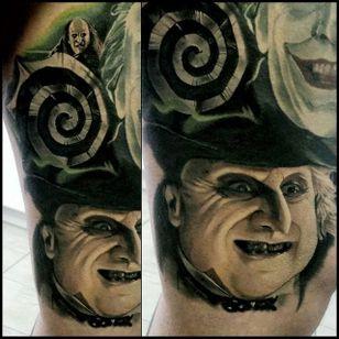 Penguin Tattoo by Christopher Bettley #Penguin #Portrait #PortraitTattoos #ColorPortraits #PortraitRealism #ChristopherBettley