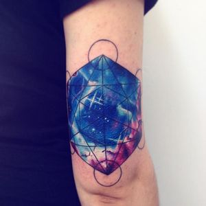 Watercolor Galaxy Tattoo by Adrian Bascur #WatercolorGalaxy #WatercolorGalaxyTattoo #Galaxy #GalaxyTattoos #Watercolor #WatercolorTattoo #Space #WatercolorSpaceTattoo #AdrianBascur