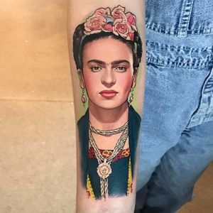 Frida Kahlo by David Corden (via IG-davidcorden) #fridakahlo #portrait #color #history #davidcorden