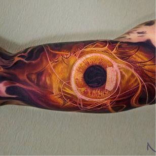 Massive eye sleeve via @yan_vilks #YanVilks #realism #realistic #eye #sleeve