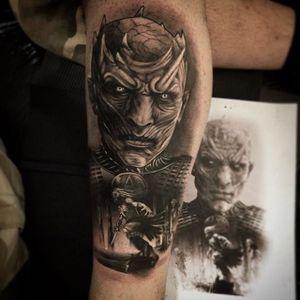 Black and grey White Walker tattoo by Egon Tattoo. #gameofthrones #GOT #tvshow #whitewalker #blackandgrey