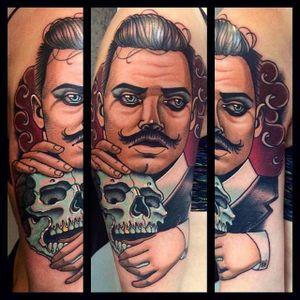 Gentleman Tattoo by Bartosz Panas #gentleman #gentlemantattoo #neotraditional #neotraditionaltattoo #neotraditionalartist #polishtattoo #polishartist #BartoszPanas